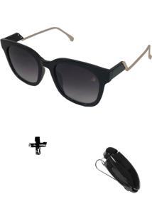Óculos De Sol Feminino Volpz Com Suporte Veicular - Kanui