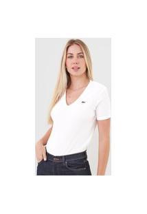 Camiseta Lacoste Canelada Branca