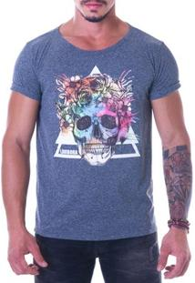 Camiseta Masculina (Hd) - Colorful Skull