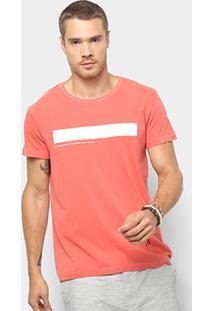 Camiseta T-Shirt Foxton Clássico Contemporâneo Masculina - Masculino-Vermelho