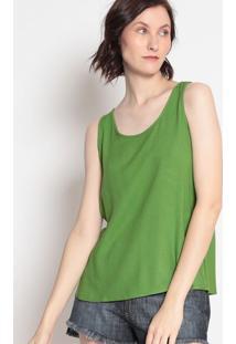 Blusa Lisa Com Franzidos- Verde- Sommersommer