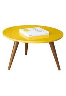 Mesa De Centro Decorativa Lyam Decor Sofia Amarelo