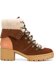 See By Chloé Ankle Boot 'Eileen' De Couro - Marrom