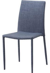 Cadeira Indonesia Estofada Tecido Sintetico Cinza - 30746 - Sun House