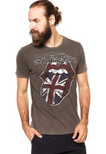 Camiseta Ellus Rolling Stones Marrom