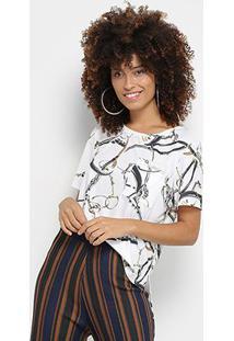 Camiseta Lança Perfume Estampada Feminina - Feminino-Estampado