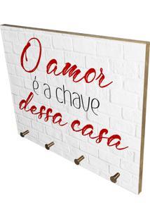 Porta Chaves Prolab Gift O Amor É A Chave Branco