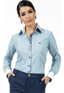 91f68cc847 ... Camisa Premium Social Principessa Madonna Listrada Azul