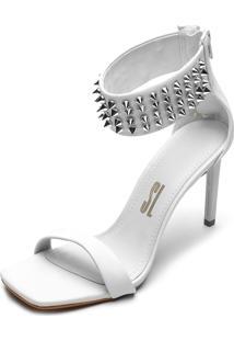 Sandália Santa Lolla Spikes Off-White