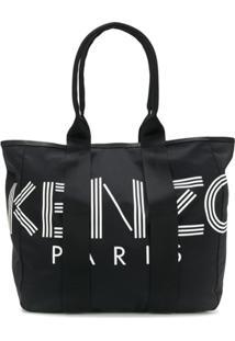 Kenzo Bolsa Tote Com Logo - Preto