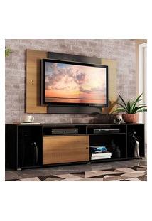 Rack Madesa Cancun E Painel Para Tv Até 58 Polegadas Preto/Rustic D87K Preto