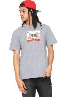 Camiseta Dc Shoes Cali Athelete Cinza