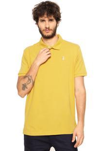 Camisa Polo Pineapple Bordado Amarela