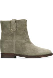 Via Roma 15 Ankle Boot Com Recortes - Verde