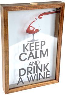 Quadro Decorativo Tabaco Porta Rolhas Drink Wine Prolab Gift