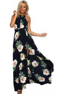 Vestidos Longos Florais Costas Nuas