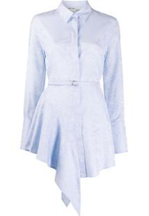 Off-White Chemise Jacquard - Azul