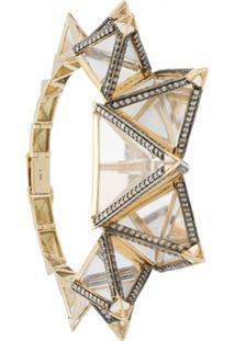 Bia Tambelli Bracelete Three Em Ouro 18K - Metálico