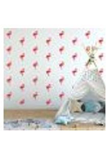 Adesivo Decorativo De Parede - Kit Com 40 Flamingos - 035Kaa18