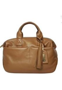 Bolsa Handbag Couro House Of Caju Pingente Feminina - Feminino-Caramelo