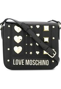Love Moschino Bolsa Tiracolo Com Logo - Preto