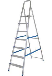 Escada Alumínio 7 Degraus Mor 5105 Prata