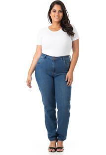 Calça Jeans Cigarrete Com Lycra Plus Size - Confidencial Extra