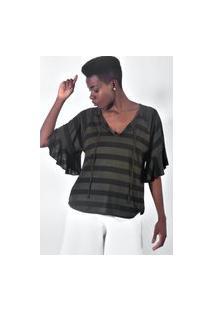Blusa Equal Moda Inclusiva Batinha Verde
