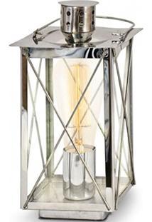 Abajur Donmington Aço Cromo Vidro Claro Transparente 1E27 49279V New Line