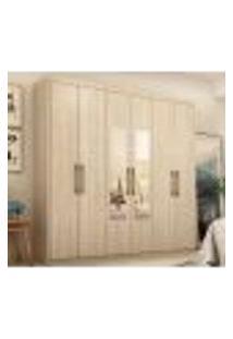 Guarda Roupa Casal 6 Portas Com Espelho Capital 64170Es Avena Touch Demobile