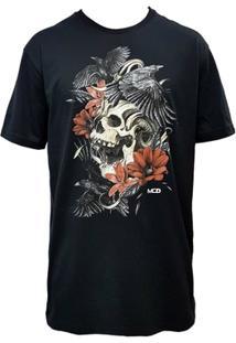 Camiseta Mcd Screen Skull Preta - Masculino