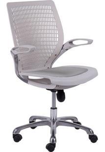 Cadeira De Escritã³Rio Age- Branca- 100X60X48Cm- Or Design