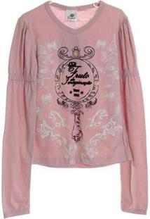 Blusa Ceramic Espelho - Feminino-Rosa