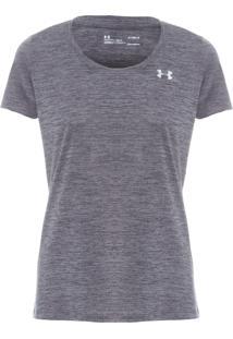 Camiseta Feminina Twist Ua Tech - Cinza