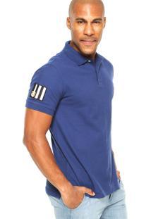 Camisa Polo Nautica Logo Azul Marinho
