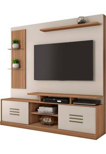 "Estante Home Samba Para Tv Até 60"" Naturale/Off White"