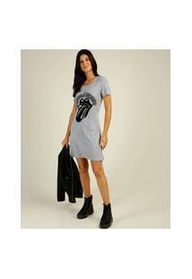 Vestido Feminino Estampa Frontal Rolling Stones Marisa