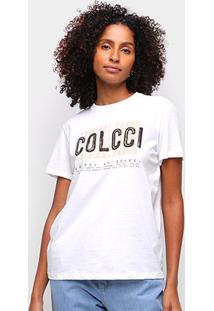 Camiseta Colcci Original Brand Feminina - Feminino-Off White