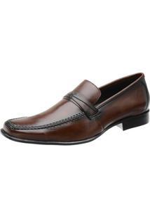 Sapato Social Couro Stefanello Masculino - Masculino-Marrom