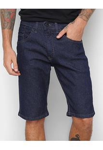 Bermuda Jeans Hd Slim Confort Masculina - Masculino-Azul