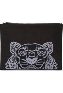 Kenzo Bolsa De Mão 'Tiger' - Preto