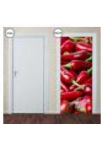 Adesivo Decorativo De Porta - Pimenta - 117Pt-P