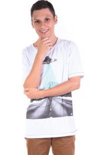 Camiseta Ovni Skatista Branca