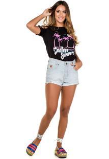 T-Shirt Recorte Endless Summer Preta Fille