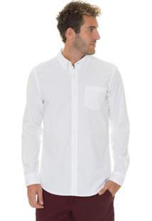 Camisa Timberland Pleasant River Oxford Masculina - Masculino-Branco
