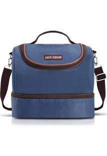 Bolsa Térmica Com 2 Compartimentos Jacki Design Essencial Iii Azul