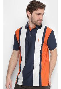 Camisa Polo Aleatory Listra Vertical Masculina - Masculino