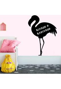 Adesivo De Parede Lousa Flamingo