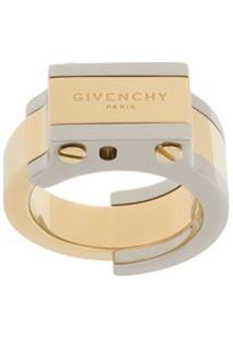 Givenchy Logo Ring - Dourado