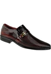 Sapato Social Constantino Masculino - Masculino-Vermelho